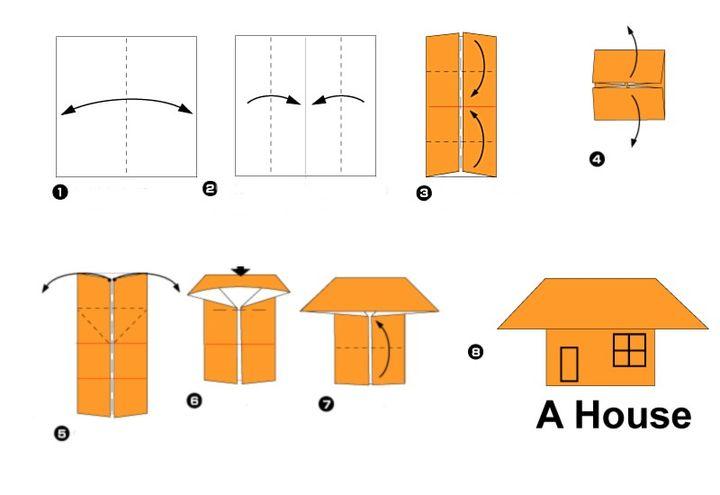 Сборка домика-оригами