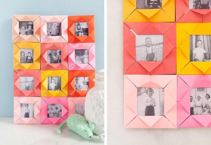 Коллаж из фоторамок-оригами