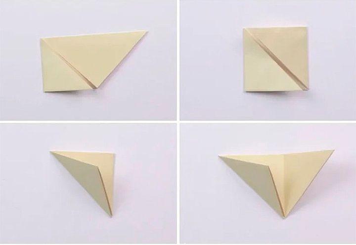 Схема сборки фоторамки-оригами