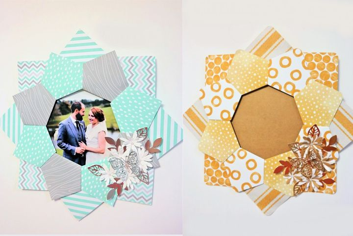 Фоторамка-оригами из бумаги