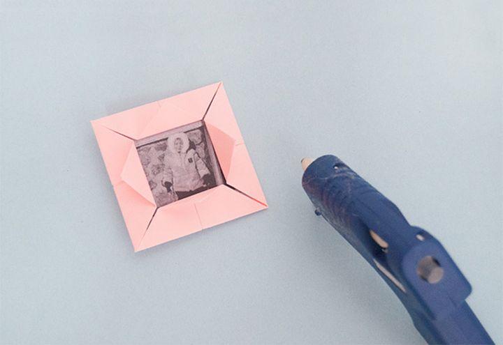 Изготовление фоторамки-оригами