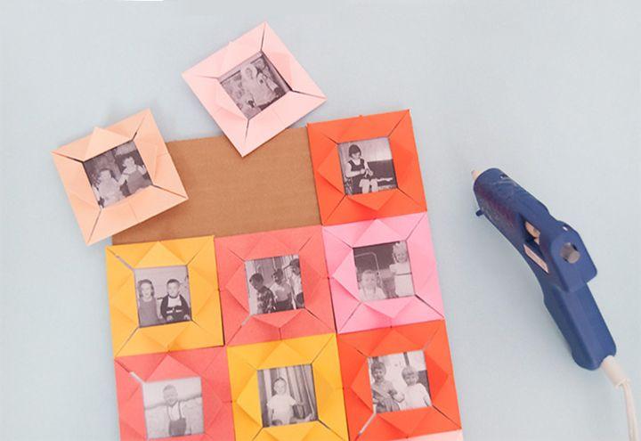 Изготовление фоторамок-оригами