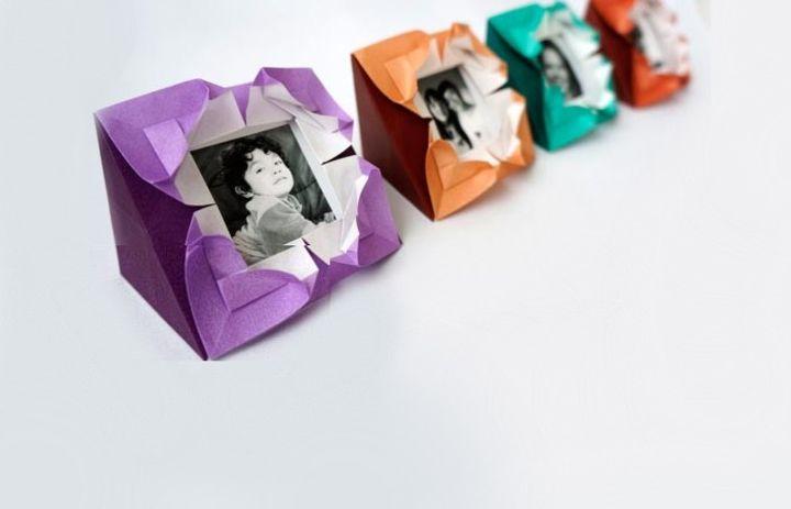Бумажные фоторамки-оригами