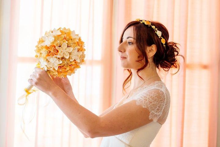 Шар-кусудама для невесты