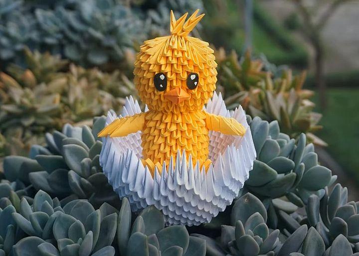 """Модульное оригами """"Цыпленок"""""""