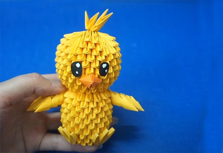 Цыпленок-оригами