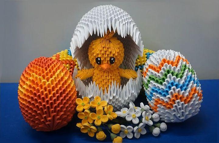 """Модульное оригами """"Цыплёнок"""""""