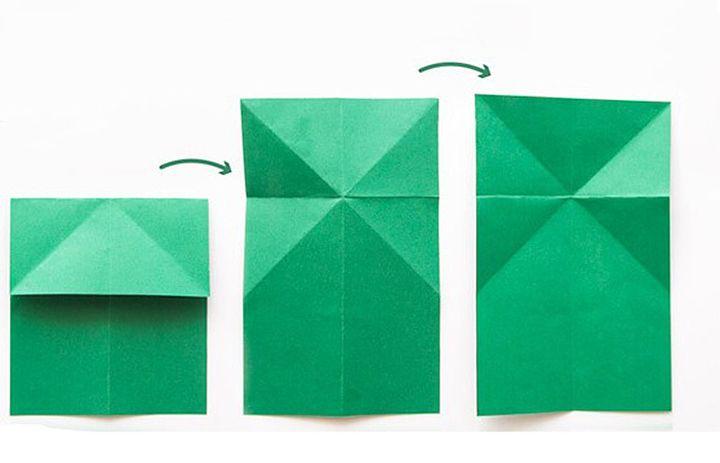 Схема сборки лягушки-оригами