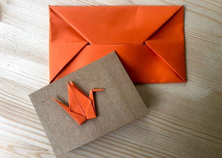Конверт-оригами из прямоугольника
