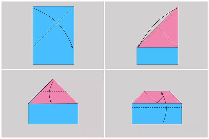 Схема сборки конверта
