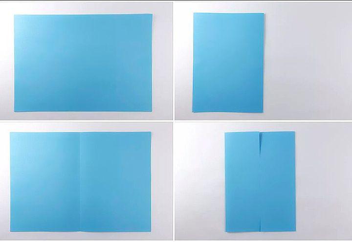 Схема сборки коробочки-оригами