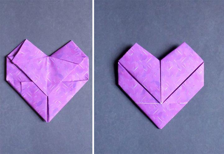 Сердце из бумаги а4