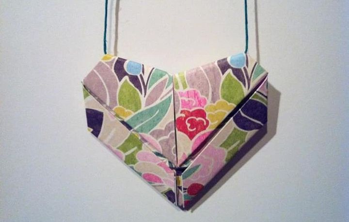 Сердце-оригами из листа а4