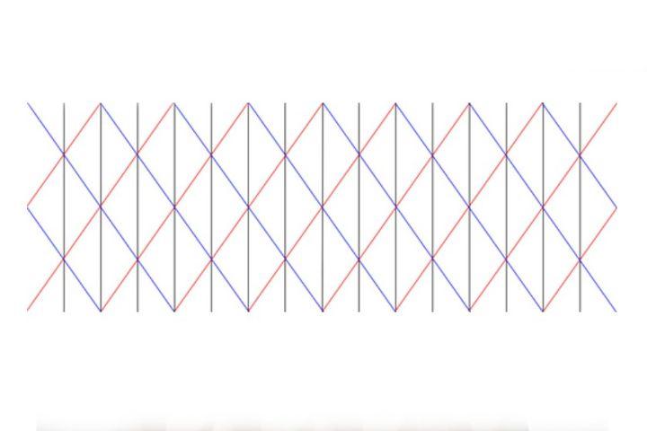 Схема изготовления абажура-оригами