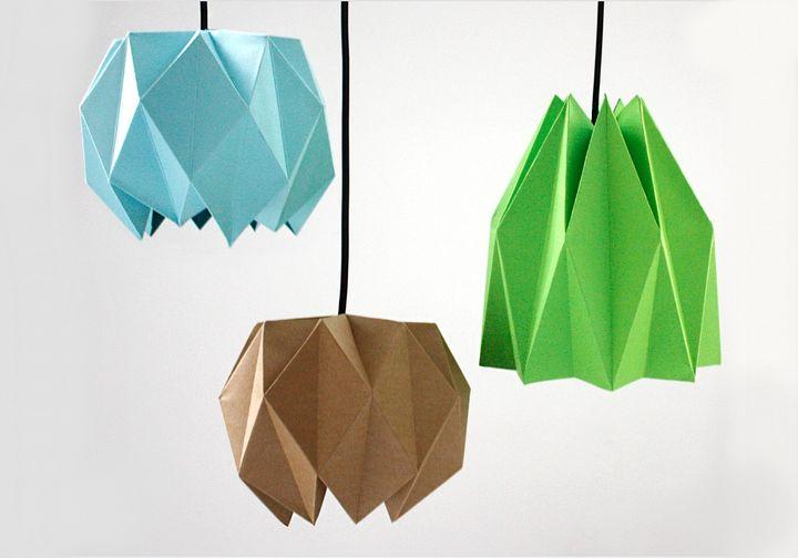 Абажуры в технике оригами