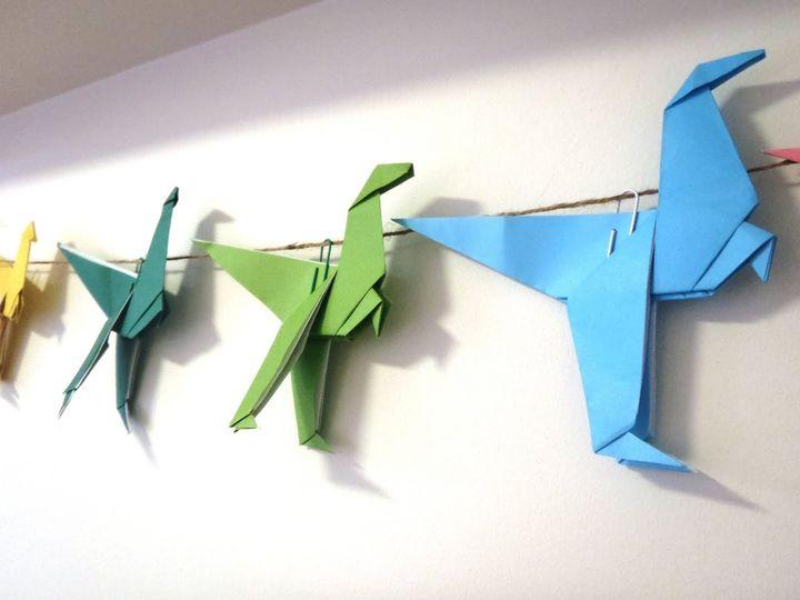 Аллозавры-оригами