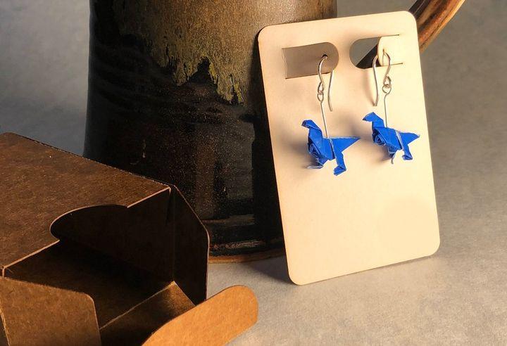 Бижутерия с оригами-динозаврами