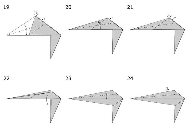 Изготовление динозавра-оригами
