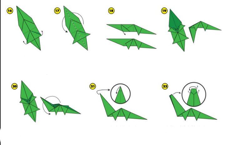 Сборка оригами-диплодока