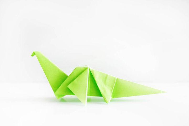 Оригами-динозавр