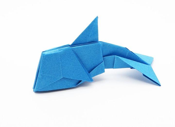 Дельфин-оригами