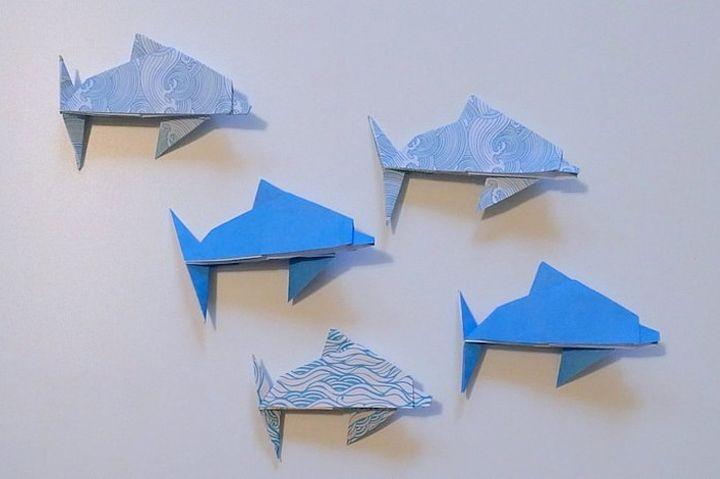 Бумажные дельфины-оригами