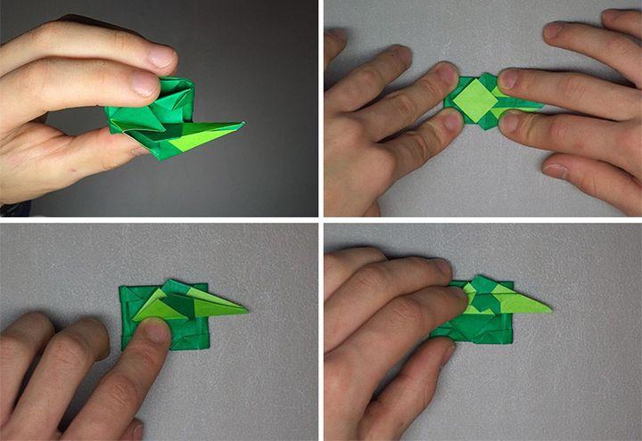 Сборка танка-оригами