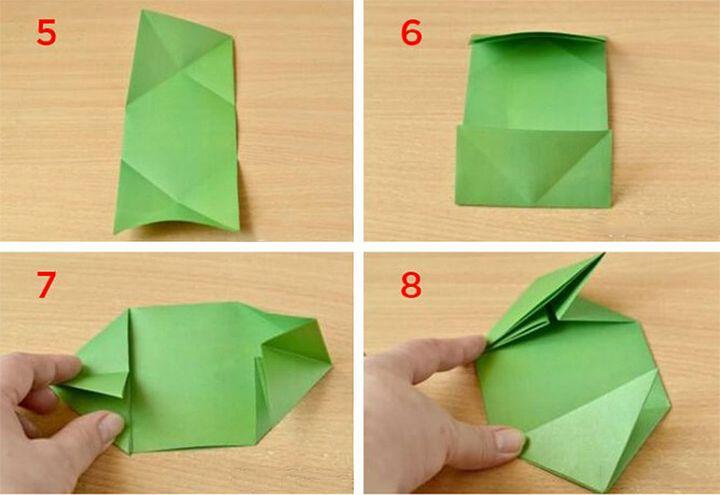 Изготовление простого оригами-танка