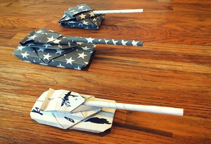 Танки в технике оригами