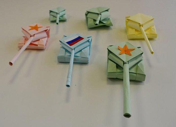 Как сделать танк-оригами из бумаги своими руками
