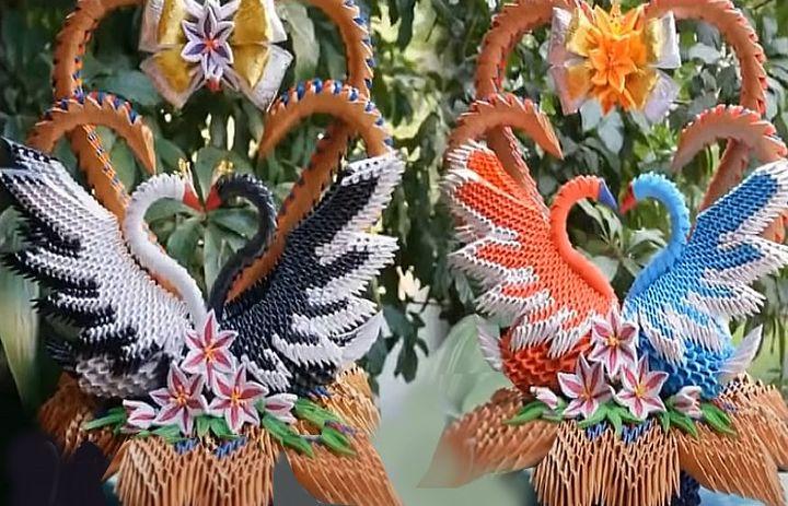 Свадебные скульптуры из модулей