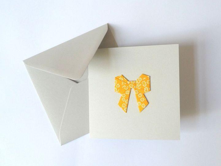 Пышный оригами бант