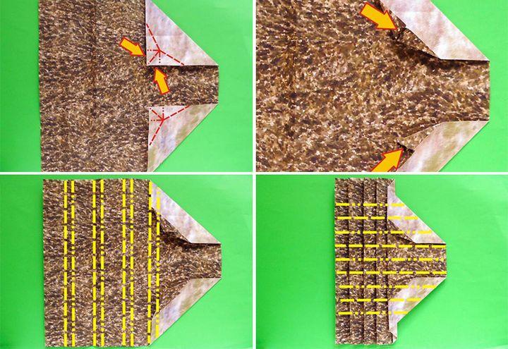 Пошаговая инструкция по сборке авторской модели ежика-оригами