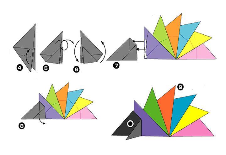 Пошаговая инструкция по сборке популярной модели оригами-ежика